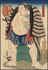 Japanese Art: The Sumo Wrestler Kagamiiwa of the West Side: Fine Art Print