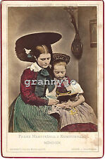 1858 Hand Colored Cabinet Photograph by Franz Hanfstangl Munchen #6  Costume