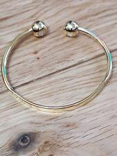 Gold plated Magnetic Copper Ball Medium Torque Bangle Copper Model free P&P