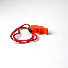 Functional Orange Security Emergency Safety Whistle With Lanyard Camp Hiking