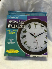 Newhall Singing Bird Wall Clock New 12 Hour Display