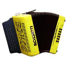 Rossetti Valentino GCF 31 Button Diatonic Accordion With Hard Case, Yellow