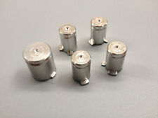 E Silver Metal Bullet ABXY+Guide Buttons Mod Kit f Microsoft Xbox 360 Controller
