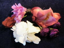 "Vintage Millinery Flower Collection 1-3"" Purple Plum German Japan    H1711"