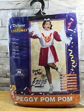 PEGGY POM POM CHEERLEADER COSTUME SIZE 10 - 12 BRAND NEW IN PACKET