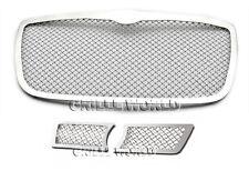 For 2005-2010 Chrysler 300C Stainless Steel Mesh Premium Grille Grill Combo s