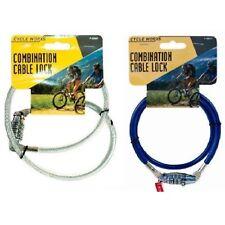 4 cifre Heavy Duty Combinazione Bicicletta Cavo di sicurezza in acciaio a spirale Pad Lock