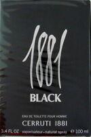 Cerruti 1881 Black pour Homme 100ml edt Vaporisateur Neuf blister Livraison Post