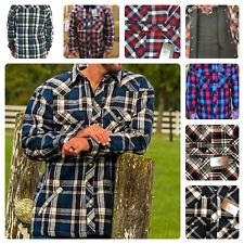 Mens Heirloom Flannel Winter Thick Plaid Shirt Plus Jacket Work Outwear M - 6XL