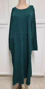 WOMAN WITHIN WMNS SZ 22/24 1X GREEN WAFFLE WEAVE DRESS LONG