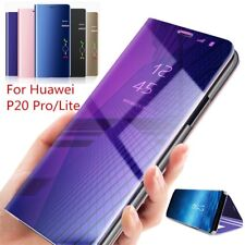 Per Huawei P20 Lite P30 Lite Pro FLIP CUSTODIA MIRROR SLIM Case Clear View COVER