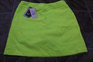 Nike Women's Tournament Golf Shorts Skirt Skort - Size 4 742875-702 Yellow Volt