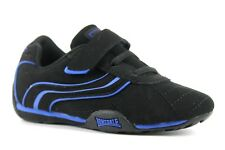 Lonsdale Camden Infant Kids UK 9 EU 27 Black & Blue Touch Close Trainers NEW