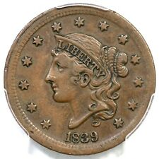 1839 PCGS XF 45 Silly Head Matron or Coronet Head Large Cent Coin 1c