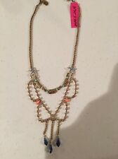 Betsey Johnson Shell Shocked Starfish & Fish Necklace *Authentic* NWT $48