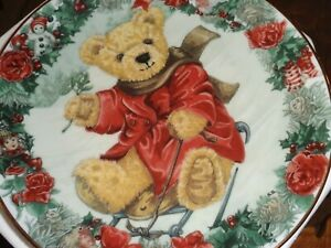 Franklin Mint Collectors Plate Teddy Bear TEDDY'S WINTER WONDERLAND Boxed