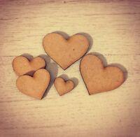wooden hearts mdf 3mm kids childrens reward chart token reward chart