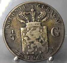 Niederlande, 1/4 Gulden 1900, Curacao, Wilhelmina, Silber