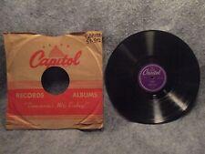 "78 RPM 10"" Record Charlie Barnet Easy Living & O'Henry Capitol Records 57-592"