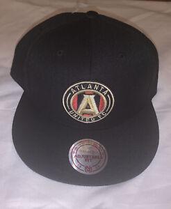 Men's Atlanta United FC Mitchell & Ness  XL Logo Snapback Adjustable Hat NWT