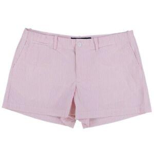 Polo Ralph Lauren Shorts Womens Size 10 Pink And White Stripe Seersucker
