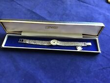 Vintage Ladies Corvette Wind Up Watch Silver Coloured Link Strap Working Boxed