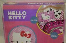 Hello Kitty Dots Beautiful Black Pink FULL Sheet Set 4-Pc Bedding Microfiber NIP