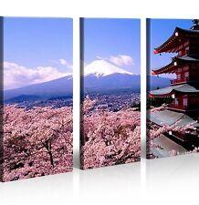Bild auf Leinwand Fujiyama Style Berg Japan XXL Poster Leinwandbild Wandbild