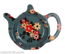 Katie Floral Melamine Teabag Tidy Coaster Kitchen Surface Accessory Home NEW