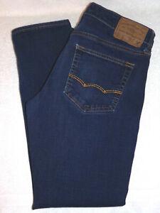 American Eagle Mens Skinny Flex/4 360 Straight Blue Jeans 31x30 Meas 31x28