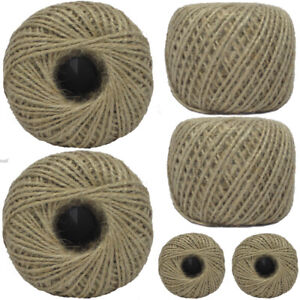 Pack of 12 - 100m Household Home Office Ball Of Brown String Twine Rope