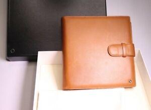 Montblanc Organizer A5 Cashmere Lambskin Leder Notizbuch in hellbraun 18x18x4 cm