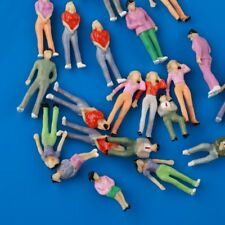 25pcs O Scale 1:43 Model Painted People Figures Mixed Poses