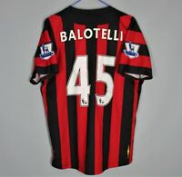 MANCHESTER CITY 2011-2012 AWAY FOOTBAL SHIRT JERSEY BALOTELLI #45 UMBRO SIZE 42