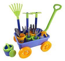 Garden Wagon Tools Toy Set Kids 8 Gardening 4 Pots Water Pail Spray S