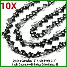 "10XChainsaw Chain 16"" 56DL, 3/8LP, 0.050 Gauge HUSQVARNA/ROSS/MAKITA/RYOBI ETC"