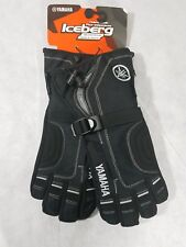 YAMAHA Iceberg Snowmobile Gloves-Black- Child/Youth-Size Medium-SMY-12GAD-BK-MD