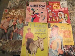 Gold Key & Dell Comics Lot,LUCY.Disney,Santa Claus