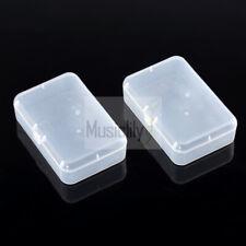Musiclily 2Pcs Plastic Transparent Guitar Pick Box Case
