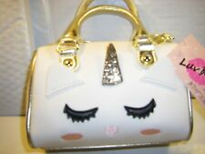 NWT Luv Betsey Collection LB HARLY Mini Barrel Crossbody Bag Unicorn