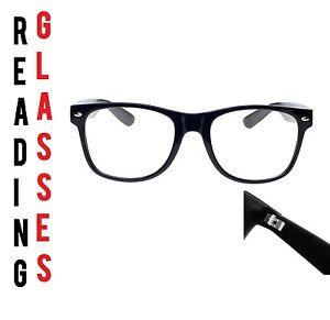 Reading Glasses +2.50 Unisex  Mens Ladies Trendy Designer Spring Geek