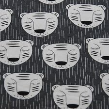 Sleeping TIGERS knit jersey fabric / sweatshirt fabric / cotton elastane kids
