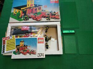 LEGOLAND® 374 Feuerwehr +OVP+OBA/ Fire station +box+instr. town vintage 1978