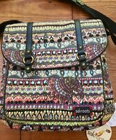 """SAKROOTS Convertible Backpack TAUPE ONE WORLD """"ELEPHANT' 107465  New!"""