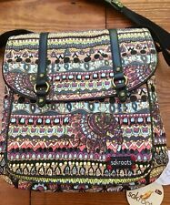 "SAKROOTS Convertible Backpack TAUPE ONE WORLD ""ELEPHANT' 107465  New!"