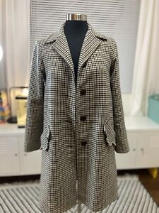 A.P.C Wool Houndstooth Coat Womens Size XS