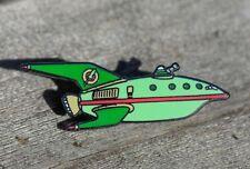 """Futurama Planet Express Ship 1.25"""" Metal/ Enamel Pin HARD TO FIND!!"""
