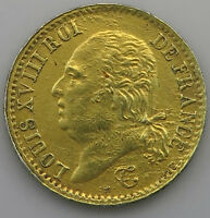 FRANCE 1/4 FRANC 1817 W LILLE GOLD PLATED #jz 089
