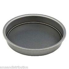 NUOVO Antiaderente Torta Rotonda Latta Vassoio da forno Bake in acciaio al carbonio 23cm x 3.5cm prima