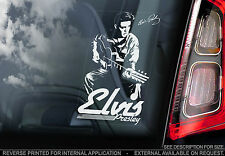 Elvis Presley - Car Window Sticker - Rock & Roll Autograph Music Sign - V01